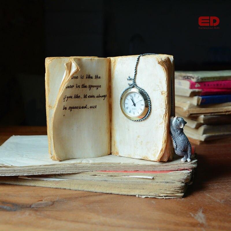 €19.28 |COLLECTION quotidienne livre créatif résine disponible horloge fée  Mini mobilier de jardin extérieur ornement bureau paysage-in Figurines et  ...
