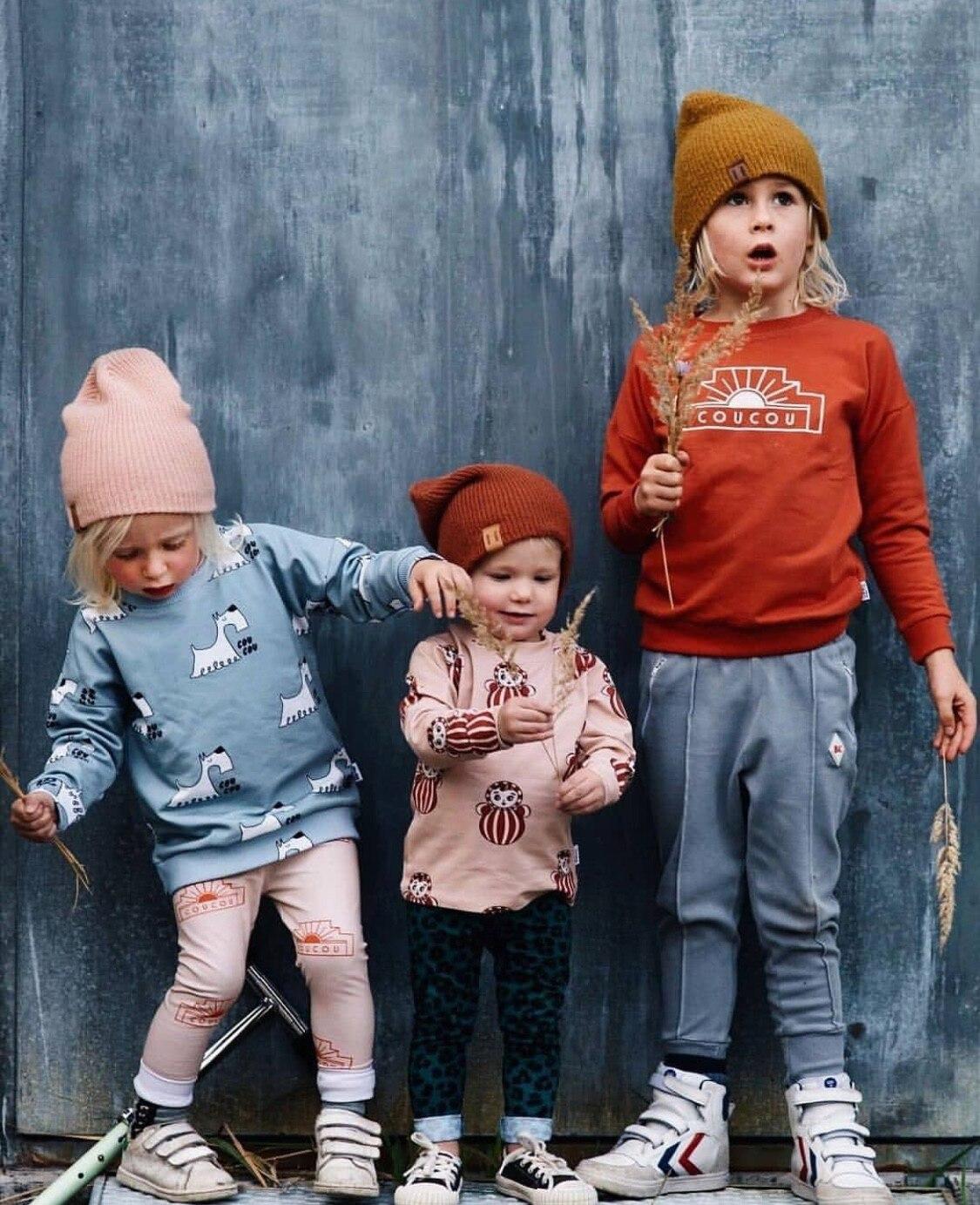 2021 Autumn Kids Long Sleeve T-shirt Sweatshirt Baby Girls Clothes Boys Jackets Coats Cartoon Tops Vacation Toddler Outfit Tops 2