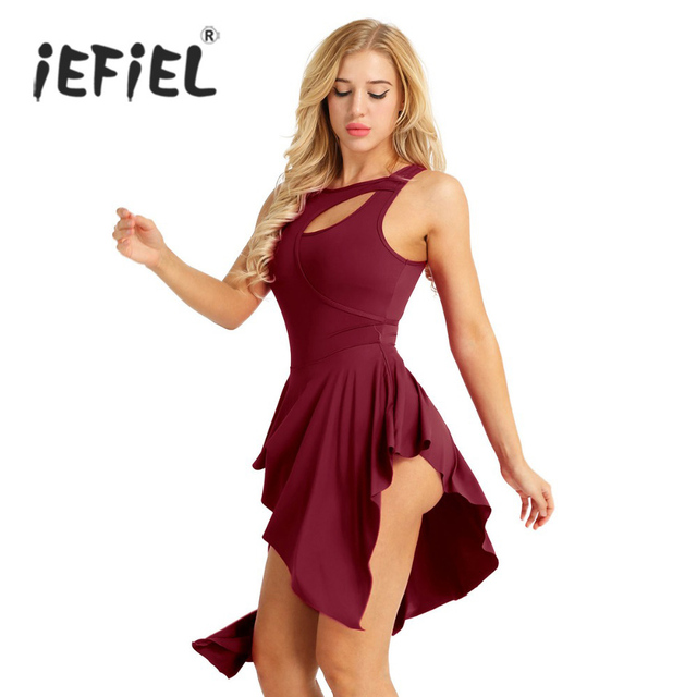 f90442249bc2 iEFiEL Hot Ballet Leotards for Women Adult Ballerina Cut Out ...