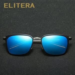 Image 3 - ELITERA Nieuwe Mode Merk Designer Legering Zonnebril Gepolariseerde Spiegel lens Mannelijke oculos zonnebril Eyewear Voor Mannen