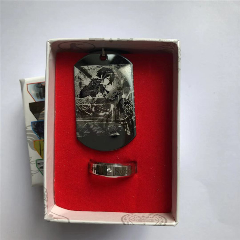 Ring-Set Stainless-Steel Accessories Necklace Army-Card-Set Titan on Ghoul Tokyo Dragon-Ball-Anime