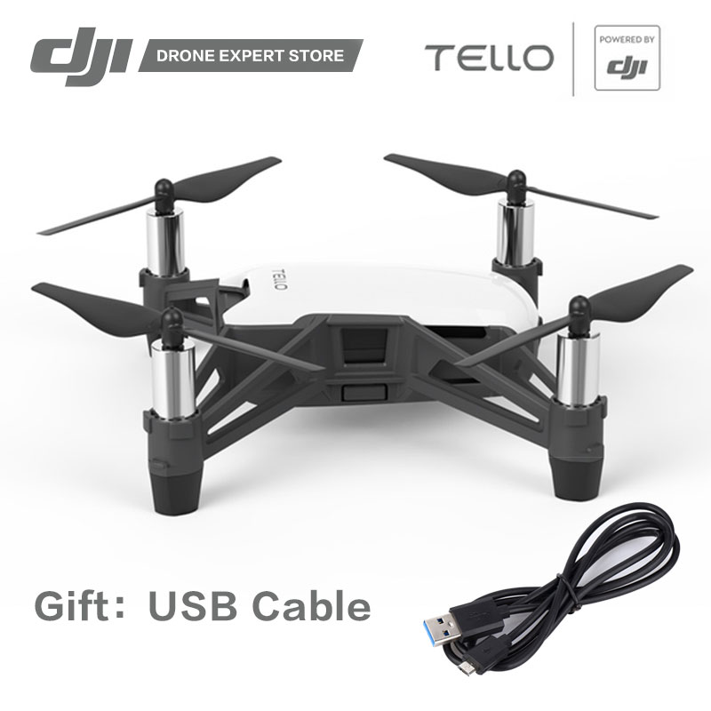 DJI RYZE Tello RC Drone with 720P Camera Smart Phone Control Perform Flying Stunts Shoot EZ Shots Toy RC Quadcopter original tello dji accessories tello battery drone tello charger batteries charging for dji hub tello flight battery accessory