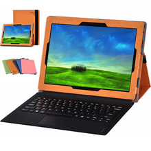 New Leather Flip Case Cover For Lenovo Miix5 Pro / Miix 720 12 inch Tablet Magnet Stand Cover + screen protector