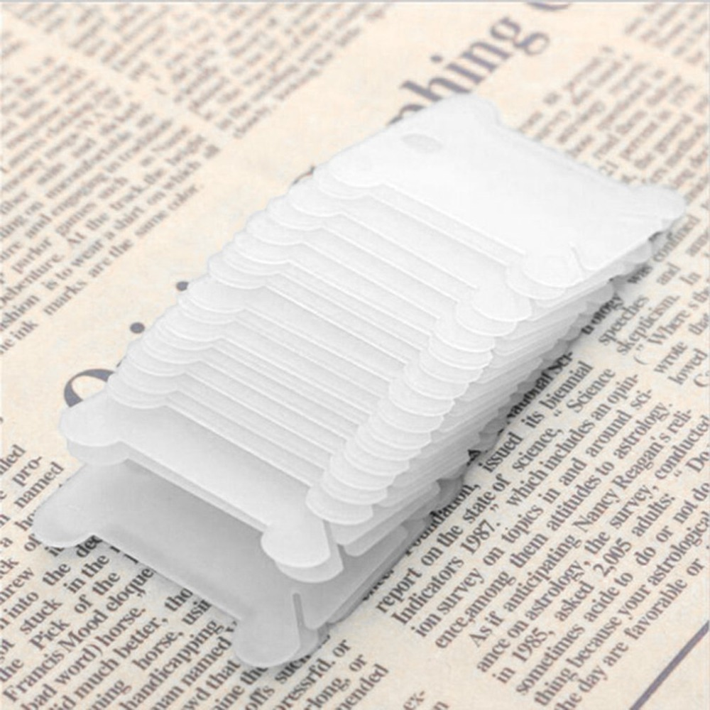 20/50/100 Pcs Plastic Cross Stitch Sewing Tool Winding Board Wire Clamp Holder Storage Wire Coil Embroidery Coil Spool Craft Kit