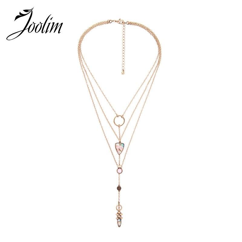 JOOLIM Jewelry Wholesale/Layered Necklace Statement Choker Necklace Design Jewelry Fashion Accssories