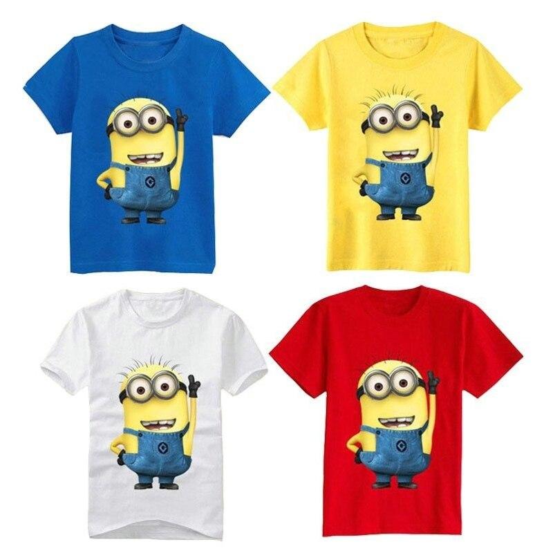 Hot Sale T Shirts Top Quality Cartoon T Shirts Minions Clothes