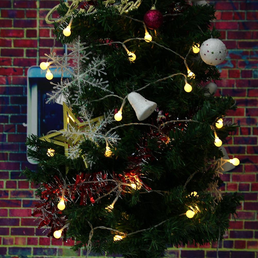 ᐂ40 LED 4.5 m Matte Ball LED luz 3 colores boda Navidad parte ...