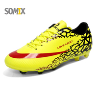 Mens Soccer Cleats Outdoor Sport Football Shoes Long Spikes FG Male Soccer Shoes Boys Athletic