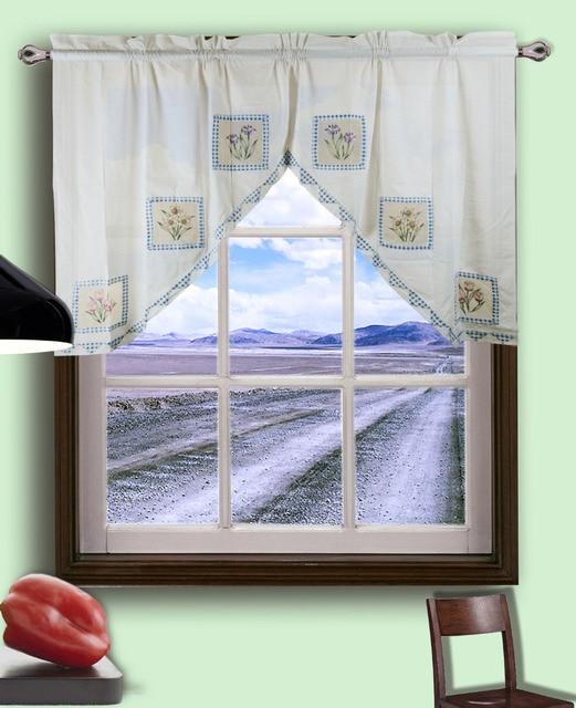 simple moderna cortinas algodn cortinas cenefa swag set decoracin del hogar cortinas para la cocina