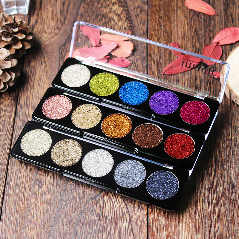 IMAGIC female popular pressed Glitter Eyeshdow Palette