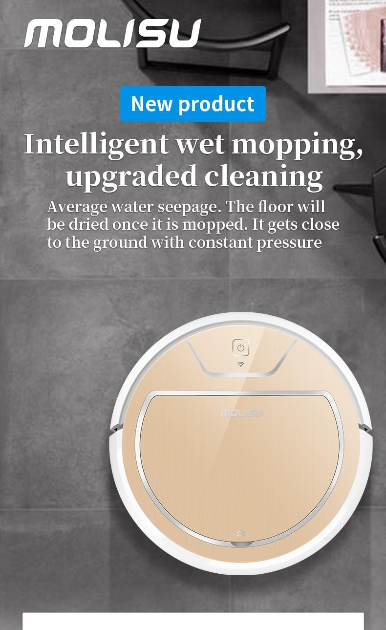 2019 Original Molisu MI Robot Vacuum Cleaner for Home Automatic Sweeping Dust Sterilize Smart Planned Mobile App Remote Control