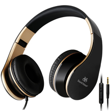 Sound Intone I65 Bass Headphones with Microphone and Volume Control Foldable Stere Headset for iPhone 6