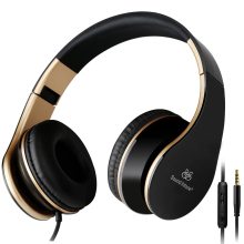 Sound Intone I65 Bass Headphones with Microphone and Volume Control Foldable Stere Headset for iPhone 6/6s iPad/iPod Android