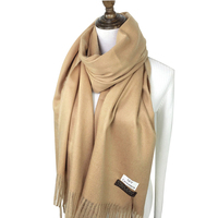 2018 Luxury Women Autumn Winter Long Scarf Cashmere Solid Pure Color Thickening Warm Scarves Women Pashmina