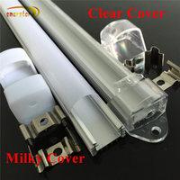 smarstar 1m U aluminum trench milk transparent clear cover for Cooling fixed hard led strip light 100cm fine aluminum profile #3