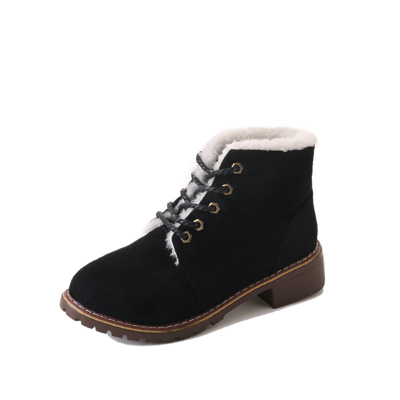 2018 winter new Korean version of the round head front tie warm fashion student casual ladies Martin boots black ljj 01082018 winter new Korean version of the round head front tie warm fashion student casual ladies Martin boots black ljj 0108