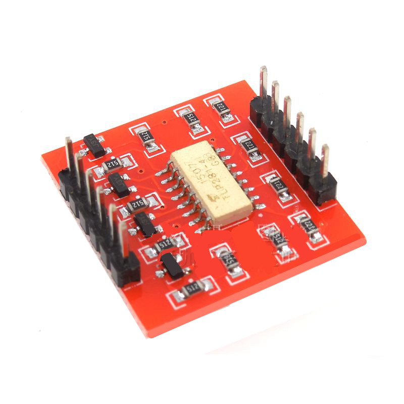 5pcs/lot 4 way optocoupler isolation module, high and low level expansion board, electronic building blocks module.