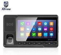 2017 Auto Tablet PC OBD Voertuig Gemonteerde Computer Vingerafdruklezer HF RFID Rijden Test Android 5.1 Mini PDA 4G LTE 5.5