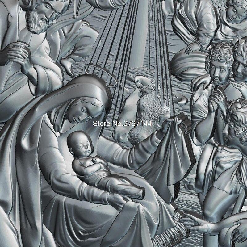 Рождение Иисуса Христа 3d модель для ЧПУ STL формат религия 3d рельеф модель STL маршрутизатор 3 оси гравер ArtCam