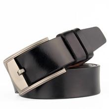 Men's Vintage Genuine Leather Metal Pin Buckle Belt