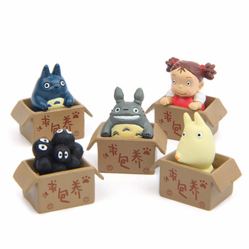 Studio Ghibli My Neighbor Totoro Satsuki Mei Jicha Action Figure Toy Pvc Totoro Dust Mei Mini Doll Model Toy For Kid Gift Decor image
