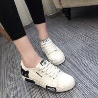Women Vulcanize Shoes Sneaker Cute Cat Canvas Shoes Tenis Feminino Summer Casual White Lace Up Vulcanize