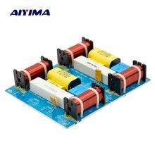 AIYIMA 2 sztuk głośnik 3 Way Audio dzielnik częstotliwości Treble + Midrange + Bass Crossover głośniki filtr dla 8 Cal głośnik DIY