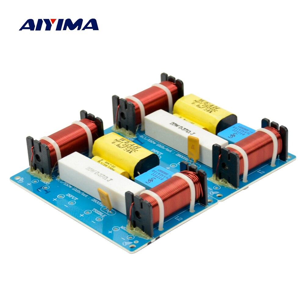 Aiyima 2 STÜCKE Lautsprecher 3 Way Audio Frequenz Teiler lautsprecher 3 Einheit Crossover Filter 120 Watt