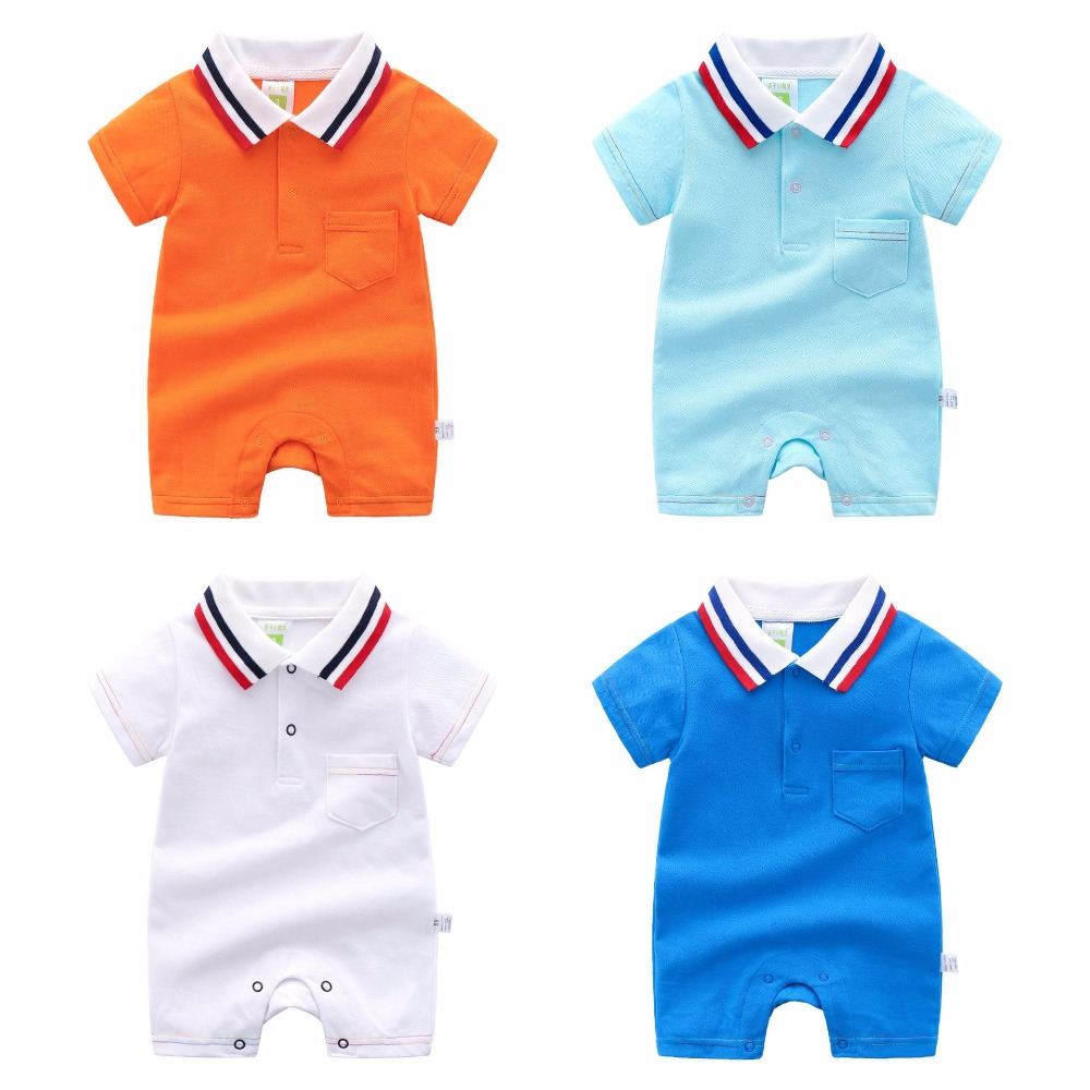 HYLKIDHUOSE 2019 Summer Newborn Toddler Infant   Rompers   Baby Girls Boys   Rompers   Casual Stripe Lapel Jumpsuits Infant Costume