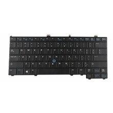 لوحة مفاتيح جديدة باللون الأسود الأمريكي لأجهزة الكمبيوتر المحمول DELL FOR Latitude E7440 E7420 E7240 E7420D إضاءة خلفية باللغة الإنجليزية