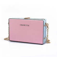 Women Handbags Box Solid Designer  fashion women messenger bags flap crossbody bag sling chains shoulder Bag Candy Color Bag
