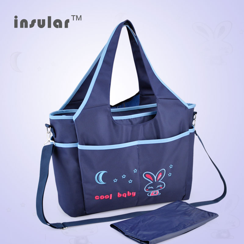 New Arrival Cartoon Baby Diaper Bag Cartoon Embroidery Mommy Bags Antimicrobial Nappy Bags