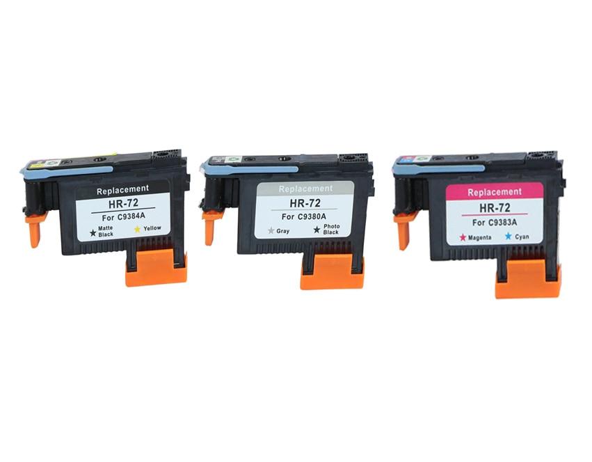 C9380A C9383A C9384A Printhead Print head for HP 72 DesignJet T1100 T1120 T1120ps T1200 T1300 T1300ps T2300 T610 T770 T790 T795 1 set for hp 72 empty refillable ink cartridges for hp72 designjet t610 t770 t1100 t1200 t1300 t2300 t7100 t790 printer