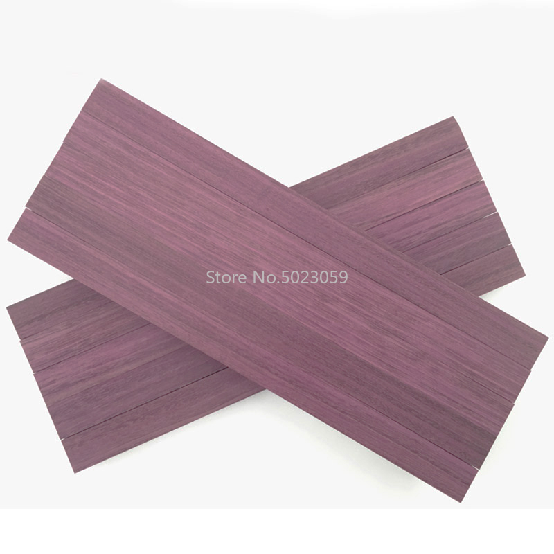 1 Piece DIY Knife Handle Material Purple Heart Wood,violet Wood For DIY Handicraft Materials