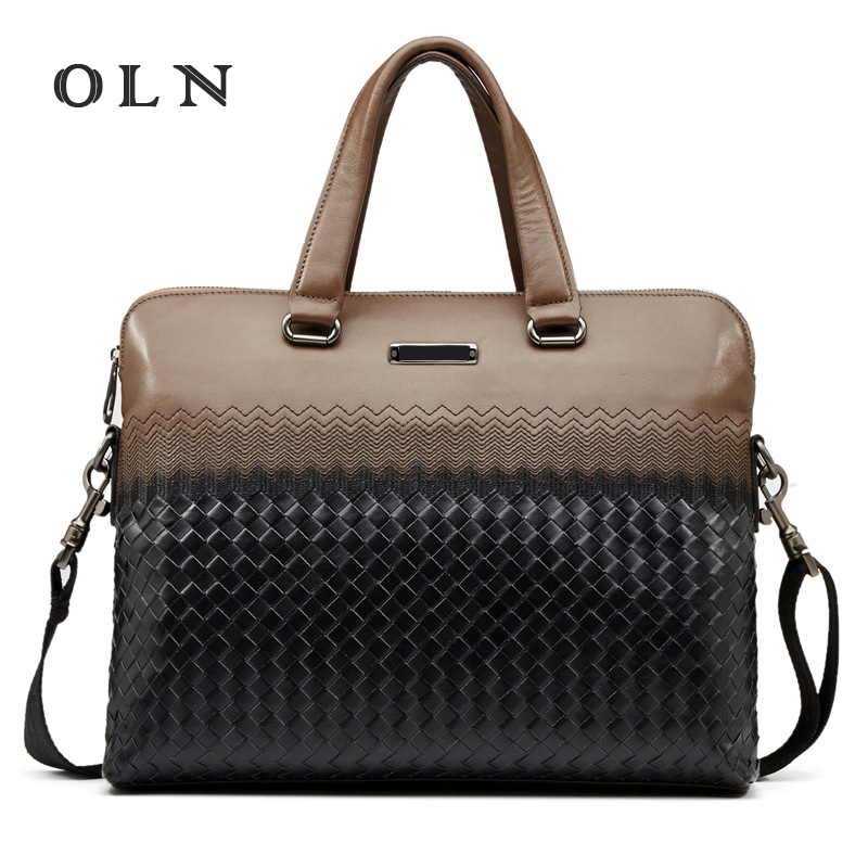 OLN fashion Men Laptop Bag Shoulder Bags Business Men's Leather Tote Bag for Men Messenger bags Mens Handbags New Briefcase mva genuine leather men bag business briefcase messenger handbags men crossbody bags men s travel laptop bag shoulder tote bags