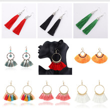 New Best Lady Bohemian Beaded Tassel Earrings For Women Unique Design Wedding Jewelry Handmade Colorful Fringed Drop