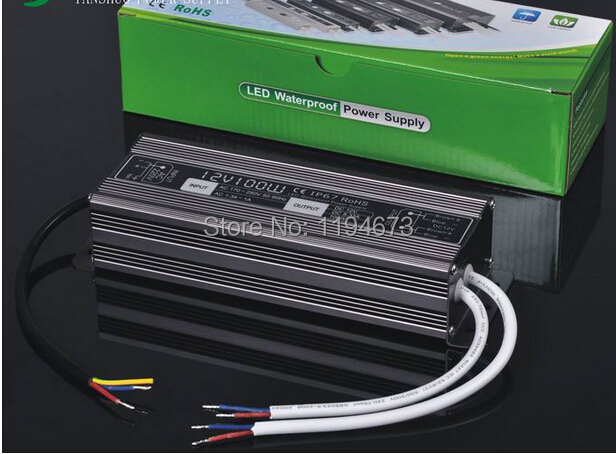 DHL Free shipping 100W waterproof led power supply for led strip light 12V output constant voltage driver 2 year warranty 2pcs 200w led driver dc36v 6 0a high power led driver for flood light street light ip65 constant current drive power supply