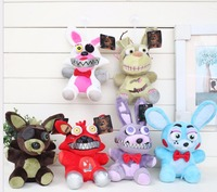 6pcs/set Five Nights at Freddy's FNAF Nightmare Freddy Nightmare Fox Springtrap plush Toys Doll
