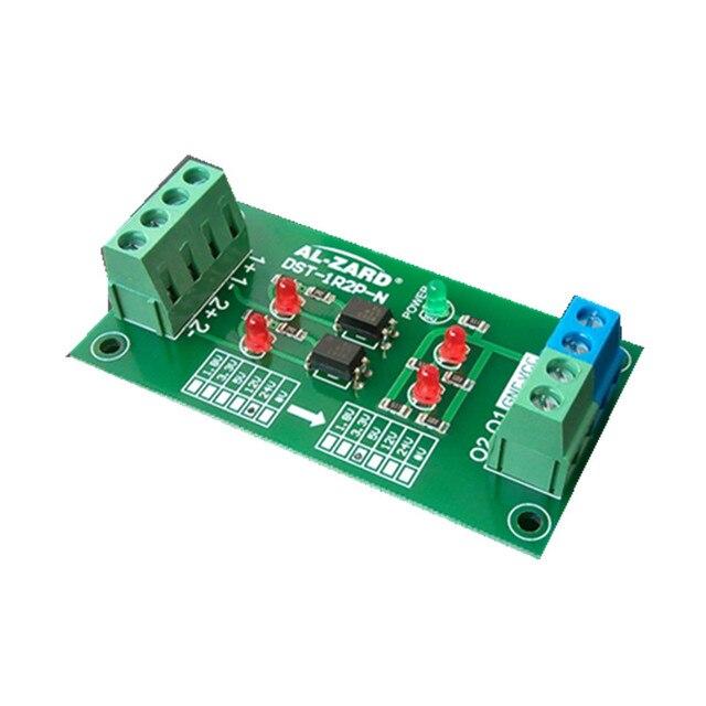12V To 3.3V 2 Channel Optocoupler Isolation Board PLC Signal Level Voltage Conversion Board Module