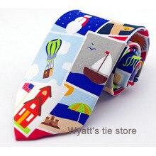 Мужская Мода Печать Снеговик новогодний галстук мужские s дизайнерские Галстуки для продажи специальный фестиваль галстук