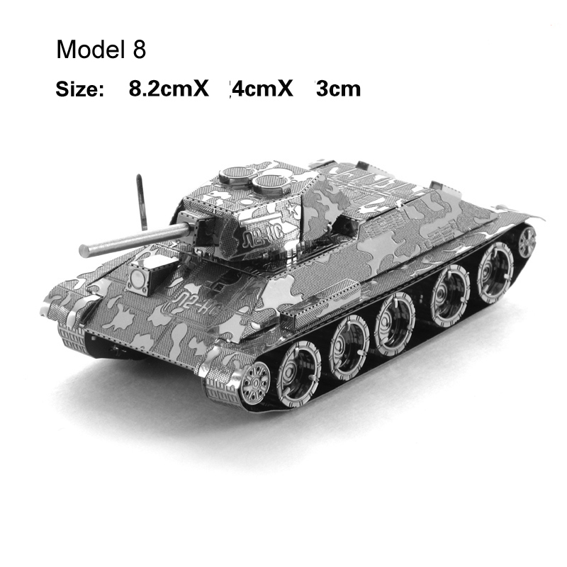 3D Metal Puzzle Mini Tank Model Assemble Toys for Military Fan 1
