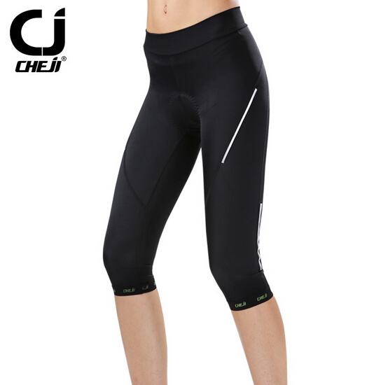 CHEJI Black good breathable Cycling Capri pant Bike Bicycle outdoor sport Shorts