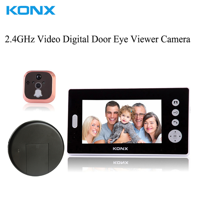 Home Security Remote Unlock 2.4GHz Video Digital Door Eye Viewer Camera Smart Home