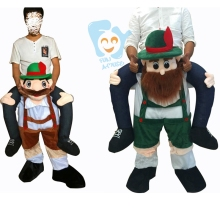 Carry Me Ride On Costume Oktoberfest Leprechaun Bavarian Beer Guy Christmas Costumes Funny Fancy Dress Mascot Costume Cosplay