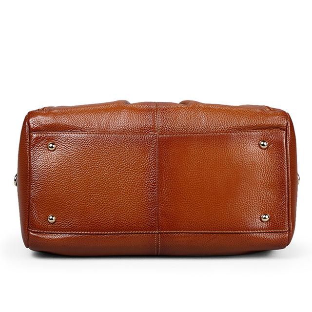 Go Meetting Genuine Leather Women's Handbags Sprayed Color Cowhide Women Shoulder Bags High Quality Vintage Messenger Boston Bag