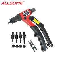ALLSOME BT-603 Manual Riveter Gun Hand Rivet Tool Kit Rivet Nut Setting Tool Nut Setter M3/M4/M5/M6