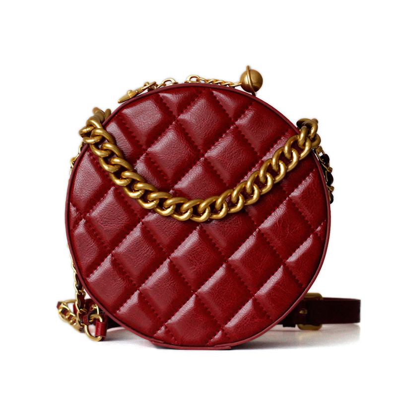 2019 Brand Fashion Show Women Bags Genuine Leaather Diamond Lattice Female Circular Womens bag Shoulder Bags Girls Handbags 3822019 Brand Fashion Show Women Bags Genuine Leaather Diamond Lattice Female Circular Womens bag Shoulder Bags Girls Handbags 382