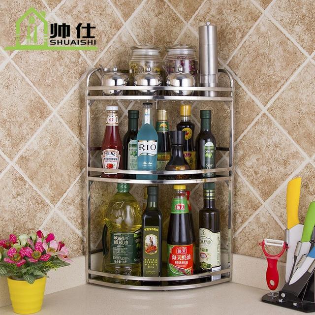 Stainless Steel Corner Shelf Kitchen Kitchen Funnel