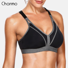 Charmo Women Sports Bra High Impact Support Backcross Yoga Running Workout Underwear Professional Fitness Top