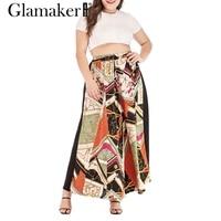 77db79f79a ... verano casual maxi falda mujeres fiesta moda bikini 2019. Glamaker Sexy  High Waist Floral Long Skirt For Women Plus Size Summer Casual Maxi Skirt  Ladies